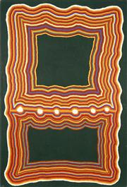Sale 8733A - Lot 5027 - David Hall (c1930 - 2000) - Untitled, 1996 120 x 80cm (stretched and ready to hang)