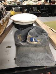 Sale 8789 - Lot 2336 - HMAS Kuttabul Sailors Hat, made by Hills Hats 1973, with a HMAS Penguin Cap (2)