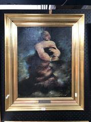 Sale 8811 - Lot 2003 - Arthur Nichol The Mezzo Sopranor oil n board, frame size: 62 x 51cm, signed lower right