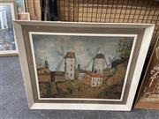 Sale 8932 - Lot 2094 - Vintage Maurice Utillio Decorative Print
