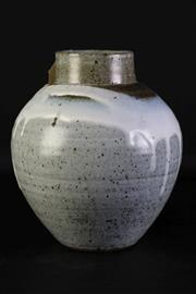 Sale 8957 - Lot 8 - A Japanese Stoneware Vases With Drip Glaze Shoulder H: 25cm