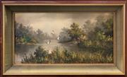 Sale 8958 - Lot 2067A - Kobchai Fleeting Ducks oil on canvas, 66 x 102cm (frame), signed lower left