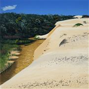Sale 9001 - Lot 571 - David Rose (1936 - 2006) - First Creek, Fraser Island, 1988 56.5 x 56.6 cm (frame: 92.5 x 92.5 x 3 cm)