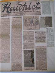 Sale 8450S - Lot 731 - Scrapbooks (8) - all Australian content (1x 1908-09, 1x 1912-18, 1x 1916-17, 1x 1918-19, 1x 1920, 1x 1920-21, 1x 1921, 1x 1923)