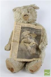 Sale 8490 - Lot 117 - Early Possibly Steiff Teddy Bear ( Missing Eye L 60cm)