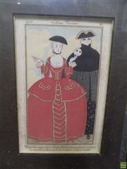 Sale 8557 - Lot 2005 - Georges Barbier (1882 - 1932) Costumes Parisians, 1913 (plate 56), hand-coloured lithograph (AF), 38 x 30cm (frame size)