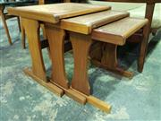 Sale 8661 - Lot 1035 - G-Plan Teak Nest of Tables with Copper Tops