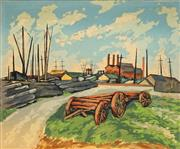 Sale 8665 - Lot 581 - Alan Sumner (1911 - 1994) - By South Wharf 38 x 46cm