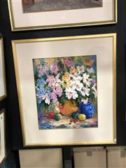 Sale 8856 - Lot 2011 - Thea Lokkers Still Life of Flowers oil, 81 x 90.5cm(frame), signed