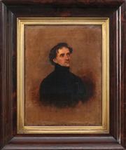 Sale 8867 - Lot 558 - Artist Unknown (Colonial School) - Portrait of a Gentleman (possibly John McDouall Stuart) 1838 33 x 25 cm