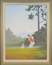 Sale 8309A - Lot 18 - John Hagan (1945 - ) - Out of Trouble 99 x 75cm