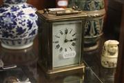 Sale 8327 - Lot 5 - French Brass Cased Carriage Clock