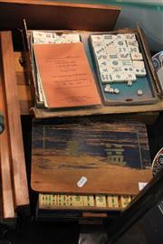 Sale 8340 - Lot 64 - Mahjong Games & a Chess Set