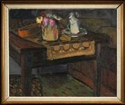 Sale 8459 - Lot 584 - Edvard Wallenqvist (1894 - 1986) - Still Life 59 x 72.5cm