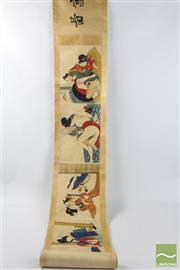Sale 8496 - Lot 98 - Erotic Chinese Painted Scroll ( L 265 cm)