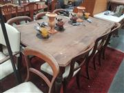 Sale 8676 - Lot 1330 - Blackwood and Pine Kitchen Table
