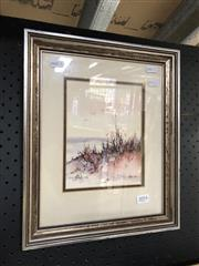 Sale 8836 - Lot 2054 - Robin Kittelty, Beach Scene, 1982 watercolour 35 x 29cm (frame)
