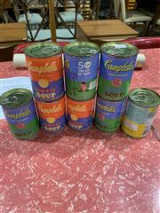 Sale 9002 - Lot 1034 - Collection of Eight Campbells Soup Cans (h:11cm)