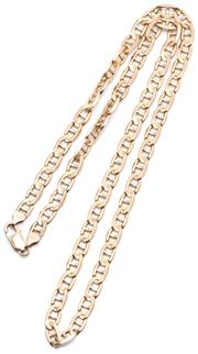 Sale 9046 - Lot 354 - A 9CT GOLD NECK CHAIN; 6mm wide anchor link chain to parrot clasp, length 66cm, wt. 38.01g.