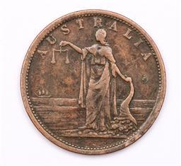 Sale 9107 - Lot 71 - A Colonial Australian copper token Iron Merchants & General Iron Mongers, Iredale & Co. Sydney 1820