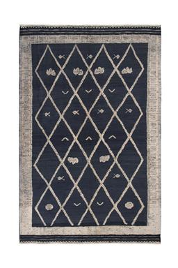Sale 9124C - Lot 15 - Afghan Bohemia Rug 200x310cm, Handspun Wool