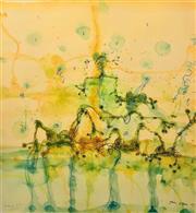 Sale 8609A - Lot 5021 - John Olsen (1928 - ) - Morning at the Lily Pond 73 x 68cm (sheet size: 85 x 79cm)