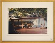 Sale 8734A - Lot 85 - Lynn Pearce - Canal Boat, Amsterdam, 2002 50 x 63.5cm (frame size)