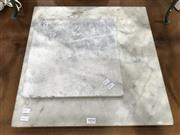 Sale 8809 - Lot 1074 - Two Square Pieces of Marble (45.5 x 45.5cm & 30 x 30cm)