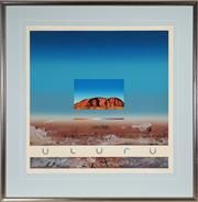 Sale 9045 - Lot 2040 - Ken Johnson (1950 - ) Uluru screenprint, ed. 34/100 102 x 106cm , signed -