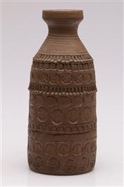 Sale 9052 - Lot 183 - Bette Beazley Studio Pottery Vase (H: 24cm)