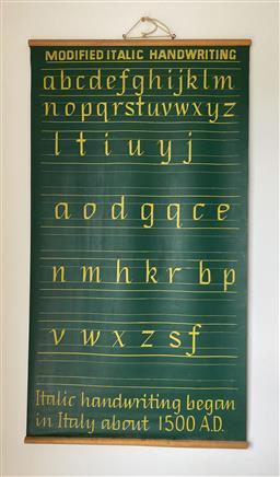 Sale 9142A - Lot 5056 - School Alphabet Chart (double-sided), 112.5 x 61.5 cm