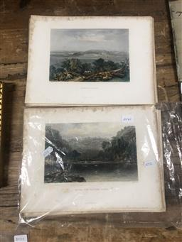 Sale 9152 - Lot 2057F - 20 Coloured unframed Engravings of Australia incl. Cockatoo Island by various artists inlcuding, J.S Prout, J.C Armytage, J. Carr, O...
