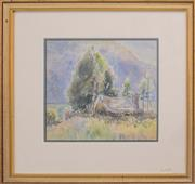 Sale 8604 - Lot 2013 - Henry Edgecombe 1881-1954 - Camping 25 x 27cm