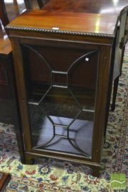 Sale 8317 - Lot 1071 - Small Georgian Style Mahogany Bookcase, with astragal door & bracket feet