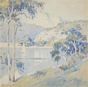 Sale 8504 - Lot 508 - Herbert Walter Cotton (1872 - 1931) - Pearl Bay 24 x 26.5cm