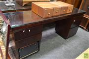 Sale 8507 - Lot 1058 - Home Office Glass Top L Shaped Desk