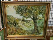 Sale 8582 - Lot 2127 - Lin Quaife Along the Valley, Oil, SLR