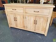 Sale 8601 - Lot 1468 - Parquetry Oak Sideboard with Two Drawers & Four Doors (W: 140cm)