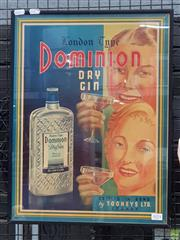 Sale 8625 - Lot 1074 - Vintage Dominion Advertising Mirror (H: 51cm)