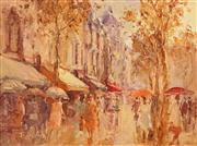 Sale 8642A - Lot 5085 - John Tiplady (1938 - ) - Rain at Tours - France, 1989 22.5 x 30cm
