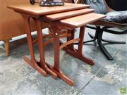 Sale 8625 - Lot 1046 - G-Plan Teak Nest of Three Tables (W: 56cm)