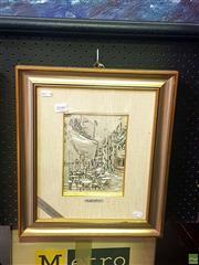 Sale 8640 - Lot 2046 - Artist Unknown - Italian cafe scene 42 x 36.5cm (frame size
