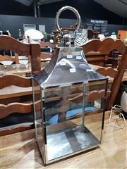Sale 8777 - Lot 1065 - Chrome and Glass Lantern