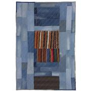 Sale 8890C - Lot 78 - Turkish Vintage Denim Patchwork Carpet, 304x201cm, Wool & Denim