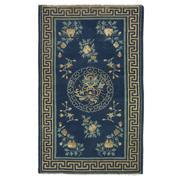 Sale 8911C - Lot 28 - Chinese Antique Peking Rug, Circa 1940, 90x140cm, Handspun Wool