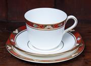 Sale 9005H - Lot 57 - A Royal Crown Derby Trio in the cloisonné pattern