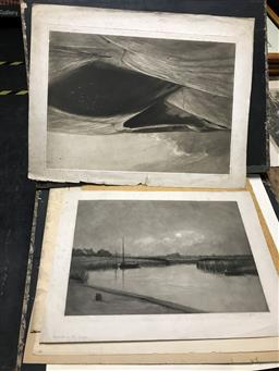 Sale 9113 - Lot 2077 - Group of early prints and original pen and ink by Fletcher 1921