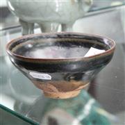 Sale 8362 - Lot 84 - Song Jian Ware Black and Persimmon Glazed Tea Bowl, 12.5 cm Dia, 5.5 cm H