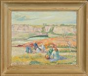 Sale 8459 - Lot 595 - Margareta Wallin (1912 -1992) - Picnic, 1947 37 x 45cm