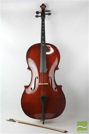 Sale 8529 - Lot 32 - Cello in Case, marked Model 201, Size 4/4